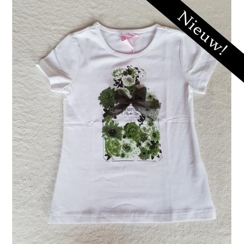 Zero - t-shirt met bloemen army green