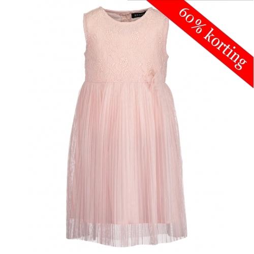Blue Seven roze plisse jurk met kant