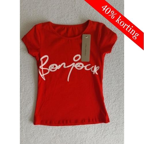 T-shirt Bonjour (rood)
