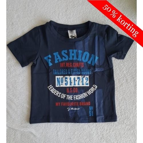 J Mirano t-shirt print - donkerblauw