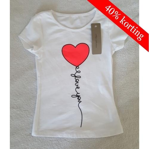T-shirt hart - roze