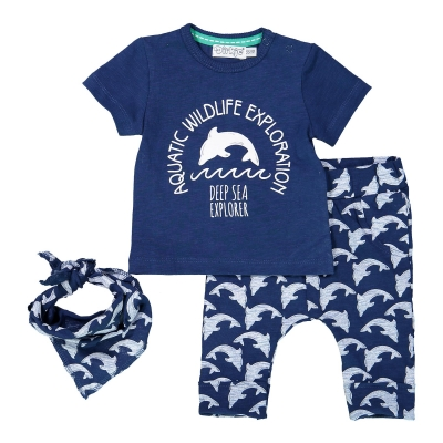 Dirkje Babykleding.Dirkje Baby Jogging Short Blauw
