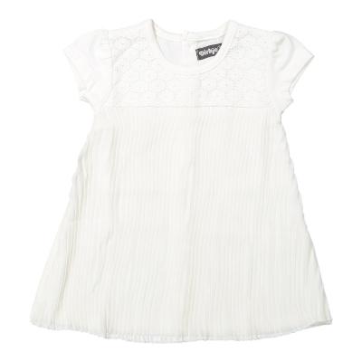 Dirkje jurk plisse wit