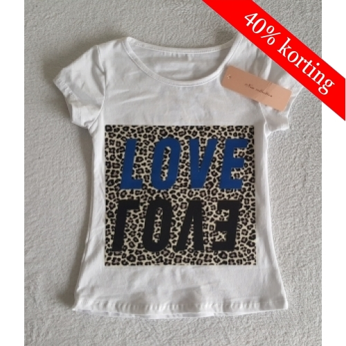 6d8f9054ff7b6a T-shirt love/love - blauw