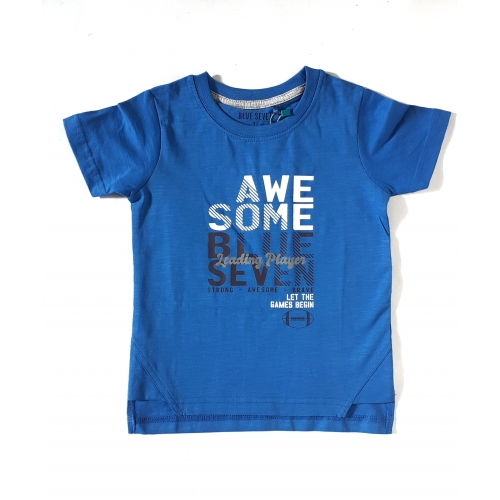Blue Seven - Jongens t-shirt Awesome (blauw)