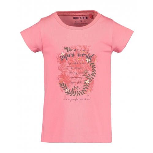 Blue Seven - T-shirt 'amazing safari world' (roze)