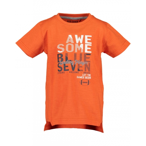 Blue Seven - Jongens t-shirt Awesome (oranje)